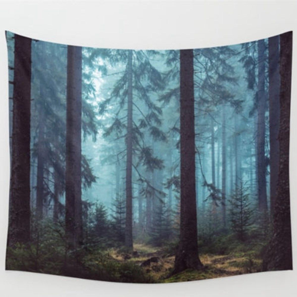 Polyester Forest Tree Tapestry 150X130cm Wall Hanging Throw Mat ...