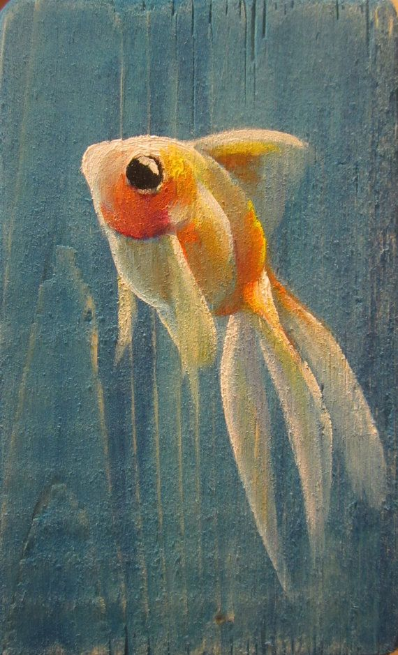 Goldfish VIII - original daily painting by Kellie Marian ...
