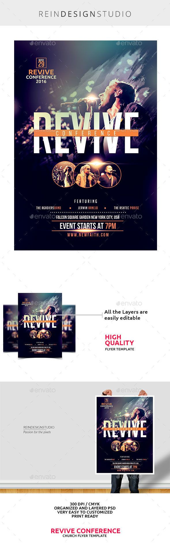 Revive Conference Church Flyer Portfolio Flyer Design Flyer