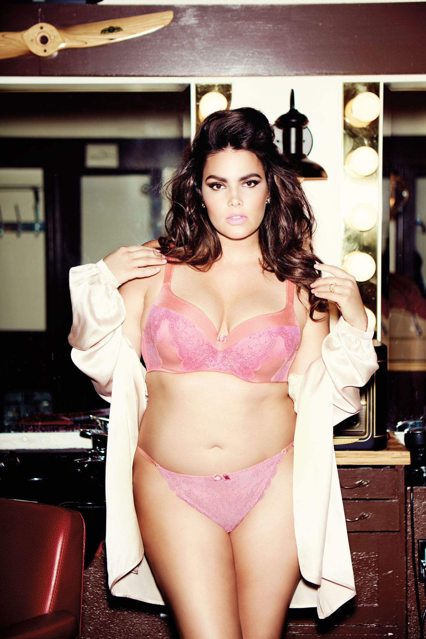 2f5f972cc21 Déesse contour flirt bra and matching thong from Addition Elle spring 2016 plus  size lingerie