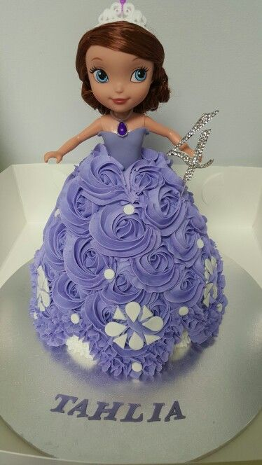 Astounding Sofia The First Birthday Cake Dolly Varden With Images Sofia Funny Birthday Cards Online Overcheapnameinfo
