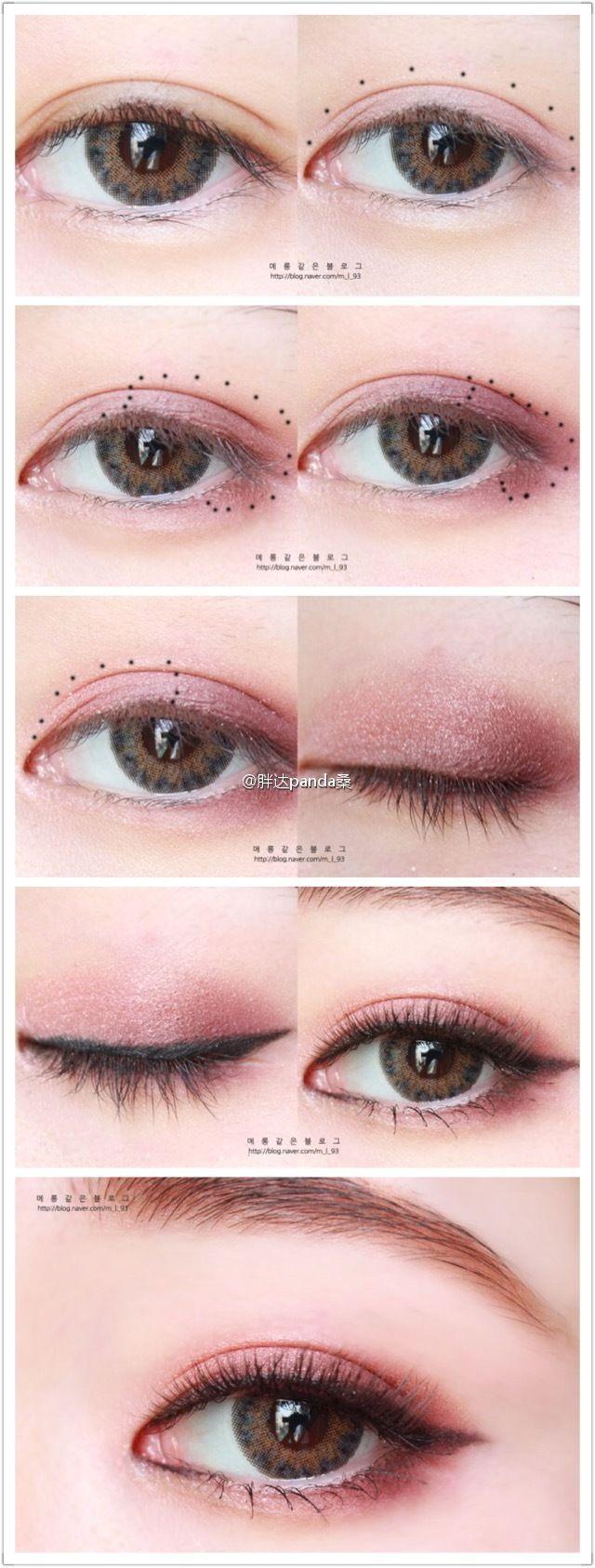 Asian Eye Makeup Koreaneyemakeup Passo A Passo Pinterest