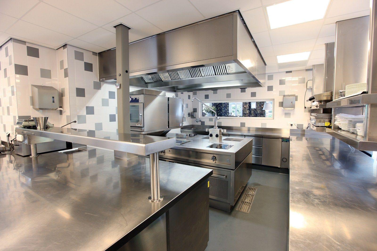 Restaurant Kitchen tile walls, tile floor, floor drain ...