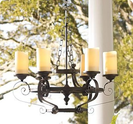 outdoor candle chandeliers
