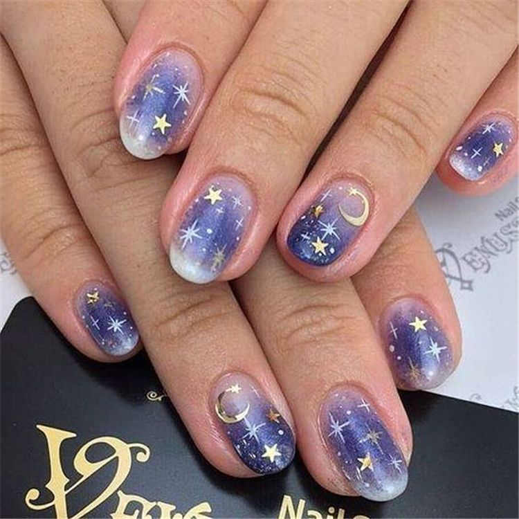 40 Cute Star Nail Art Designs For Women 2019 - Page 13 of 40 - Chic Hostess