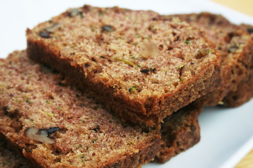 Zucchini Bread.  This moist bread is perfect with morning coffee or as dinner dessert. Simply delicious!