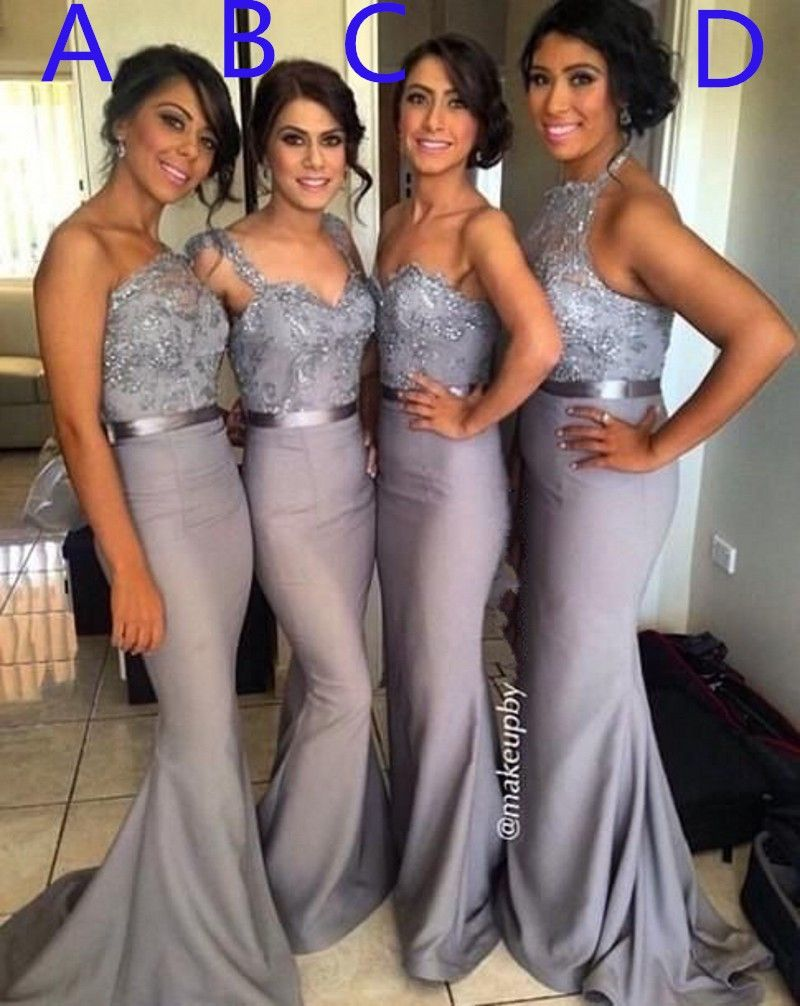 2016 hot 4 styles lace crystal satin bridesmaid gown peachivory long bridesmaid dresses mismatched bridesmaid dresses lace bridesmaid dresses gray bridesmaid sold by dreamgown shop more products from dreamgown on ombrellifo Gallery