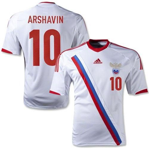 eebca1031 Russia  10 Arshavin White Away Soccer Country Jersey! Only  21.50USD ...