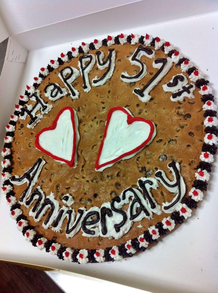 Chocolate Chip Cookie Cake Happy 51st Anniversary Chocolate