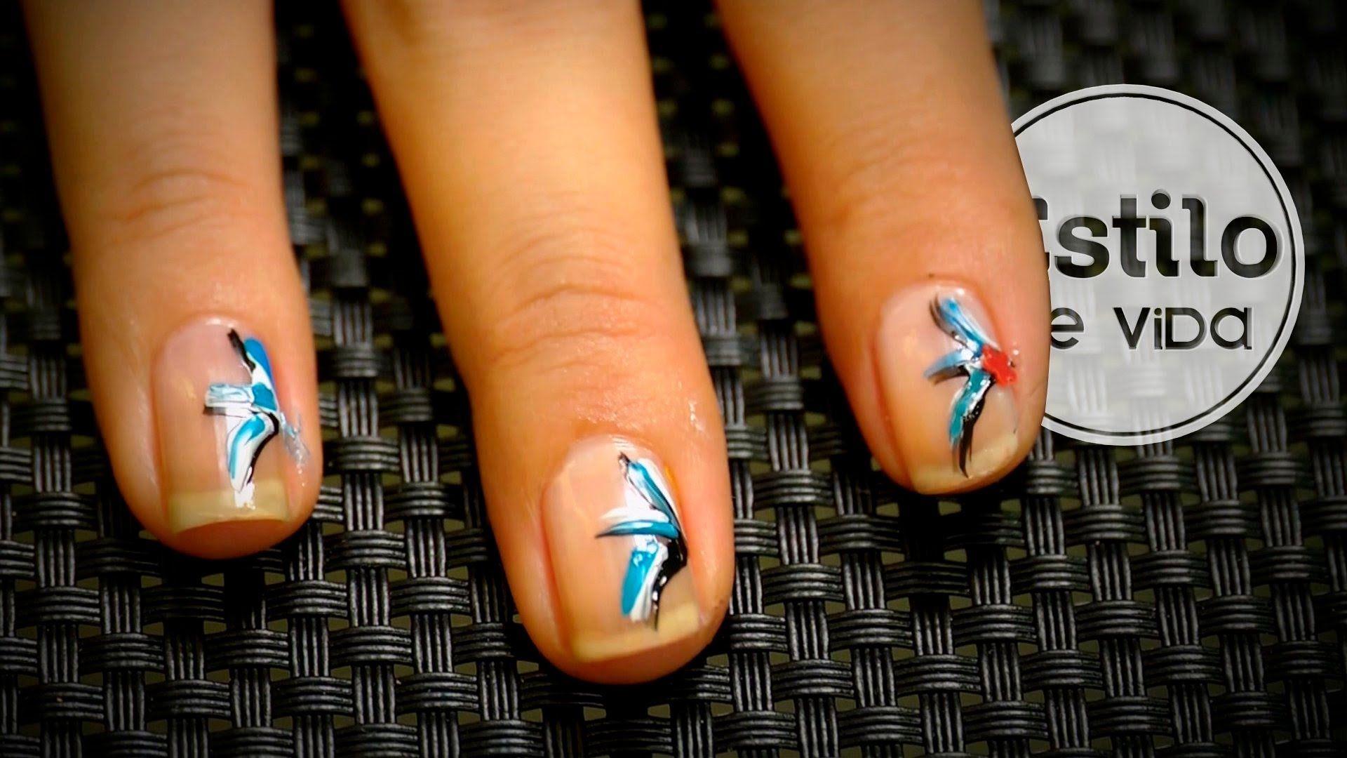 Diseño de uñas fácil | Manicura de líneas | NAIL ART | Pinterest