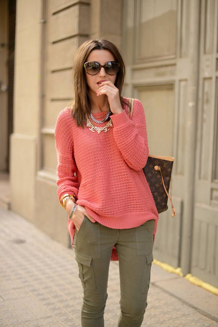 brilliant outfits sweater coral 10