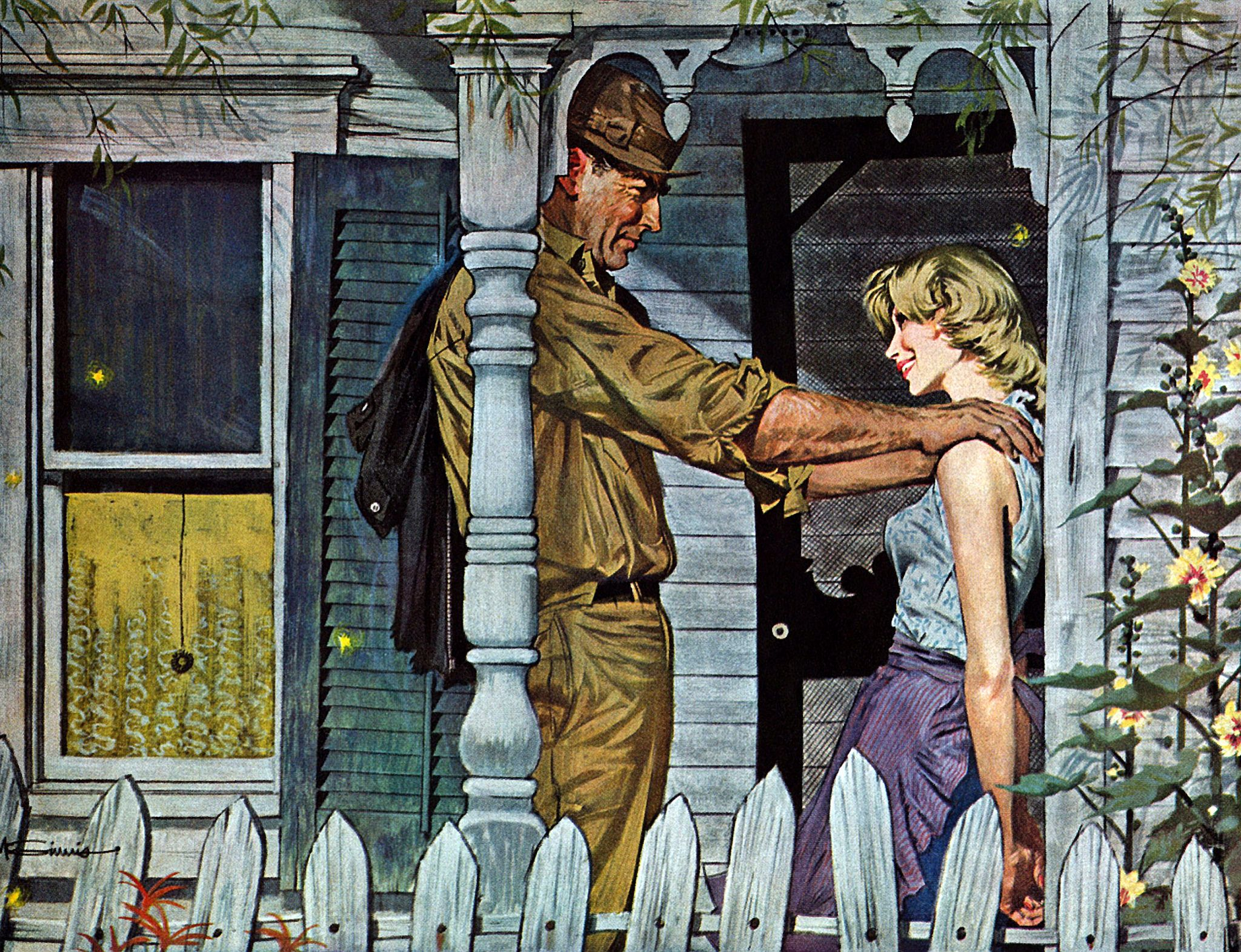 Romantic Fiction Illustration  1960  Saturday Evening Post