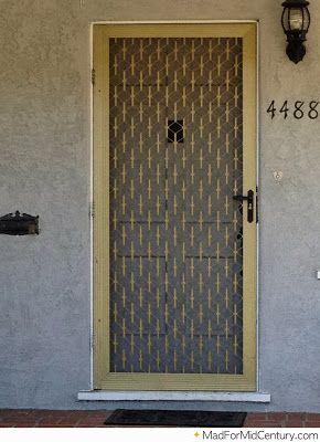 Authentic Mid Century Doors Vintage Screen Doors Metal Screen