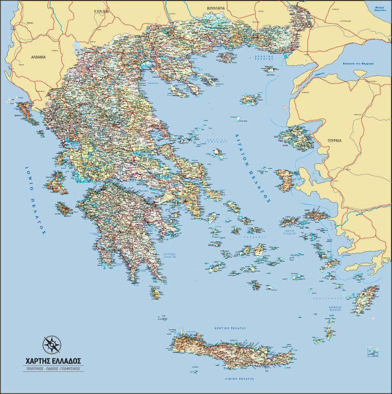 Xarths Elladas Toixoy Map World Art