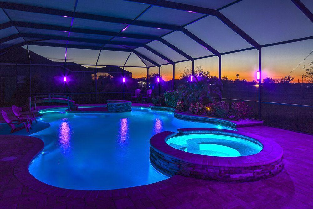pool enclosure lighting florida pool