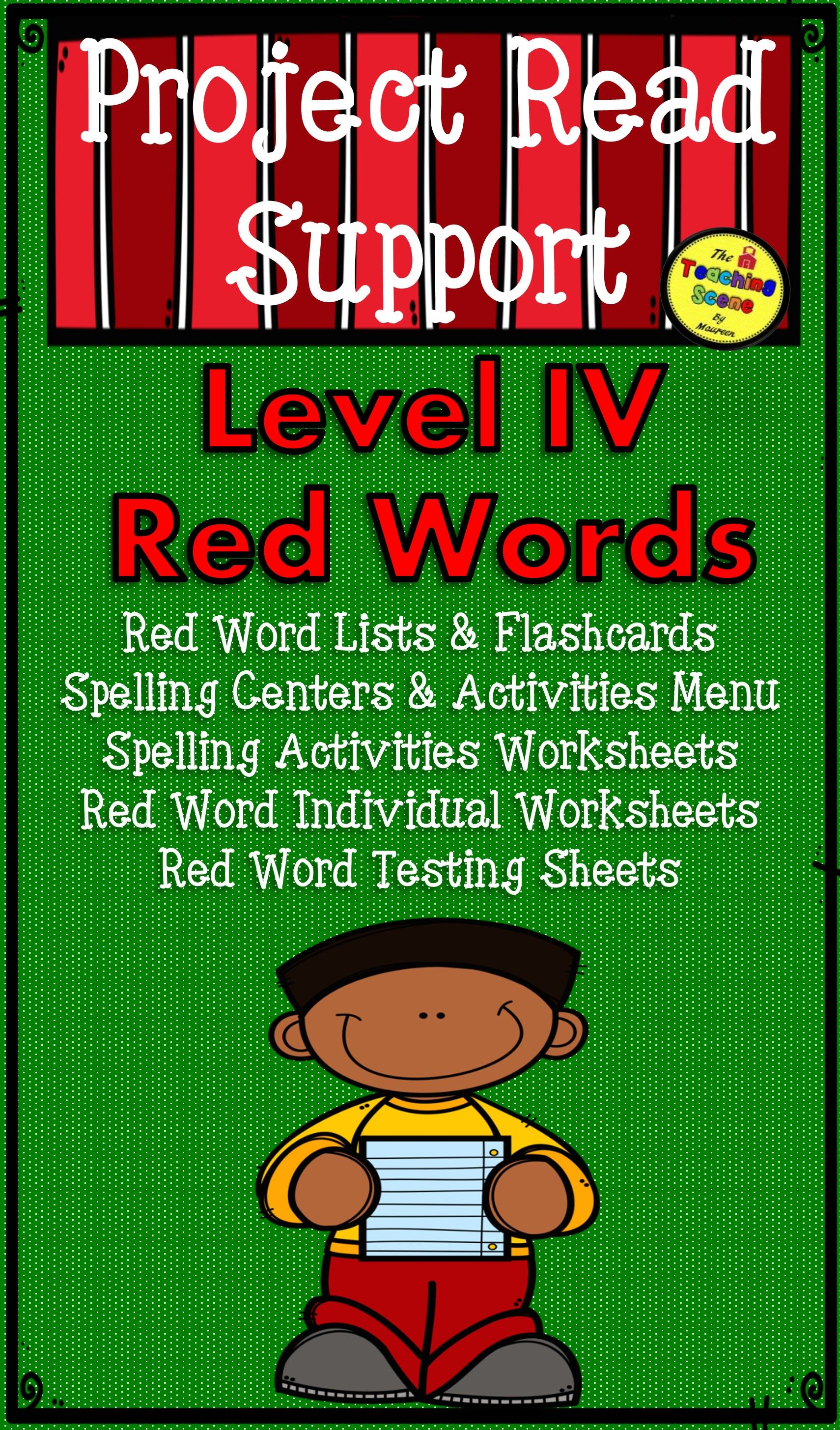 Project Read Support Red Word Level Iv Centers