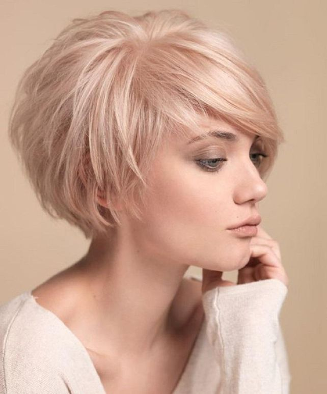 Moderne Kurzhaarfrisuren Frauen Blond Frisuren In 2019