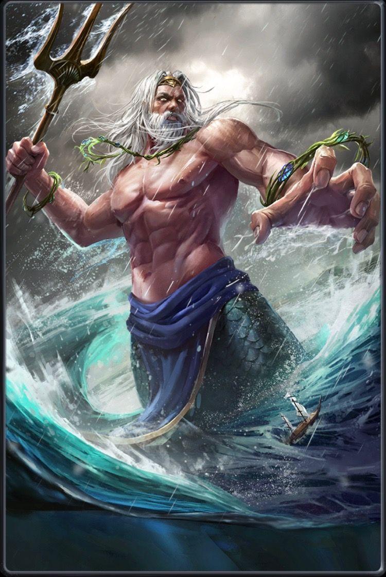 Poseidon (con imágenes) | Tatuajes de mitología, Zeus mitologia griega