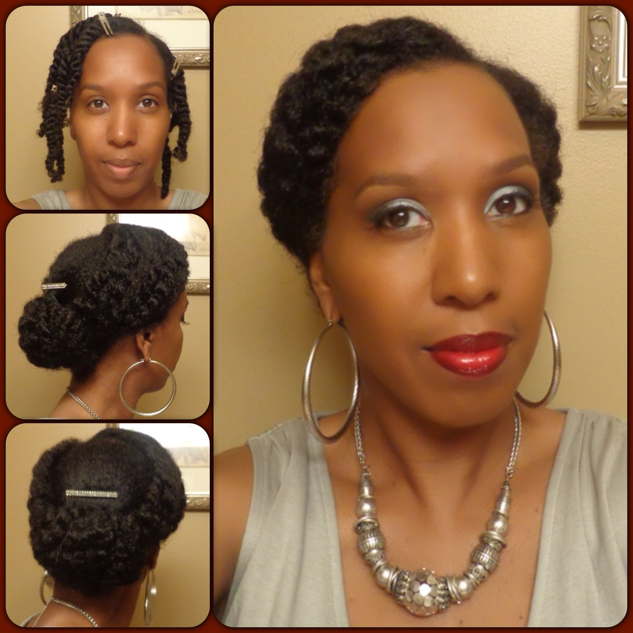 Tuck And Pin Great Protective Style For Rainy Days Rainy Days In The Forecast Natural Hair Styles Hair Styles Natural Hair Updo