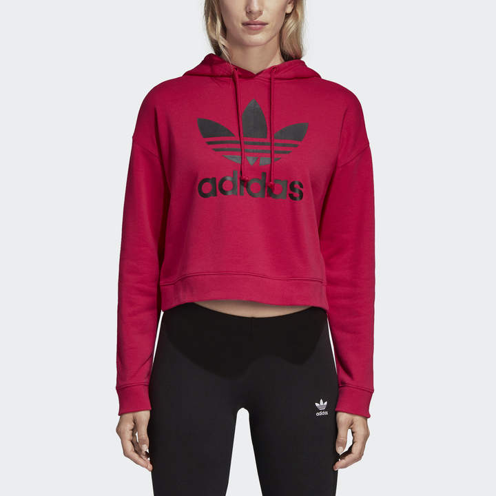 casual shoes new arrive fresh styles LEOFLAGE Crop Hoodie in 2019   Products   Adidas cropped ...