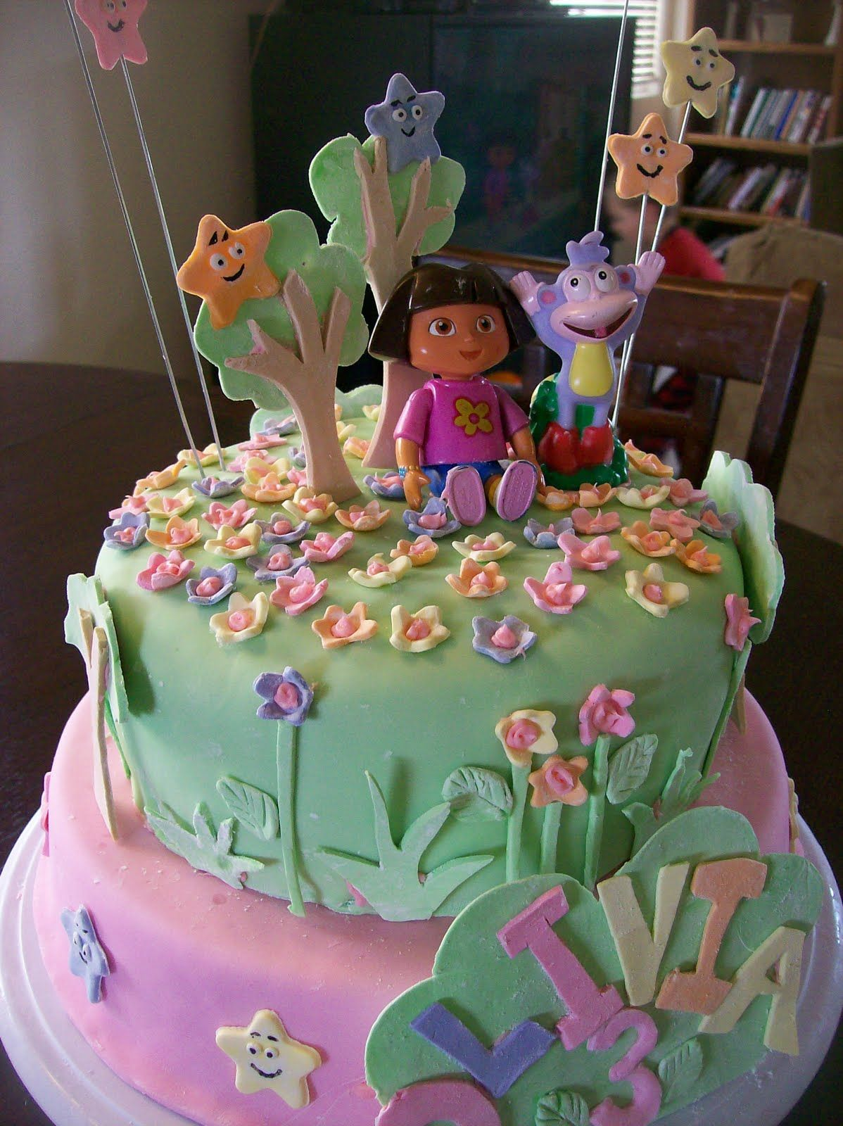 Brilliant Walmart Dora Cake Walmart Dora Cake With Images Dora Cake Personalised Birthday Cards Xaembasilily Jamesorg