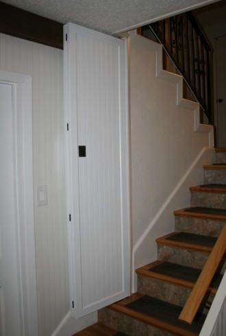 Laurelu0027s Adventures in Home Repair - Stair Door. Basement ... & Laurelu0027s Adventures in Home Repair - Stair Door | For the Home ...