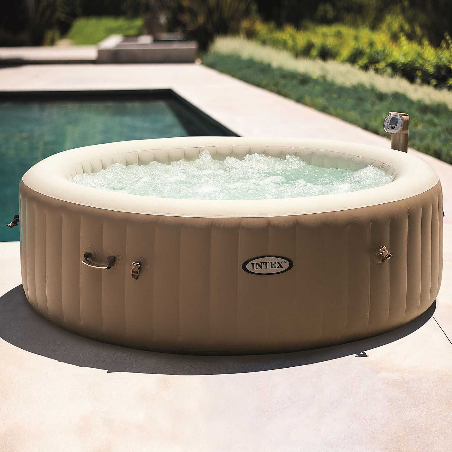 Intex Purespa 6 Person Bubble Round Hot Tub Jacuzzi
