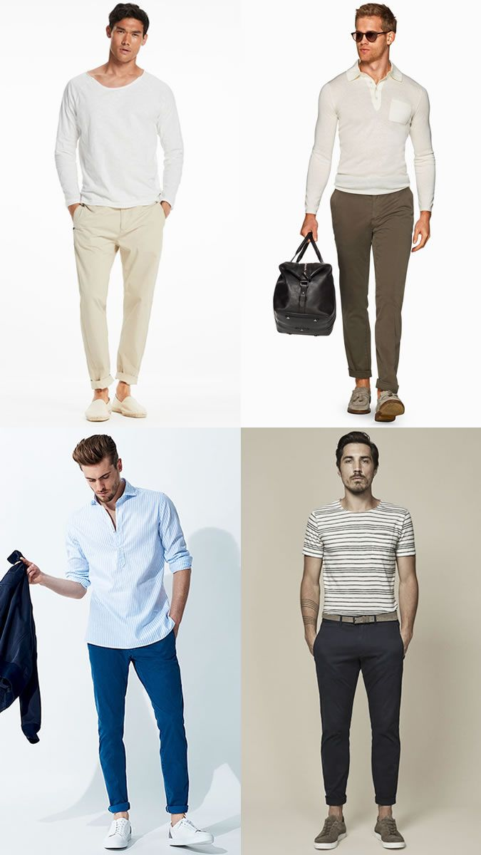 d058831b Men's Sockless Outfit: Lightweight Trousers and Chinos with  Loafers/Drivers/Espadrilles/Boat Shoes/Trainers Outfit Inspiration Lookbook