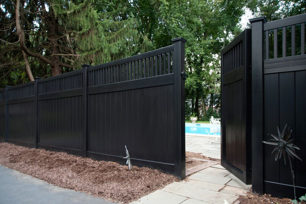 black vinyl fence panels. Fine Panels Illusions Black Vinyl Pvc Privacy Matte Finish Fencing Panels 3 Inside Black Vinyl Fence Panels Pinterest