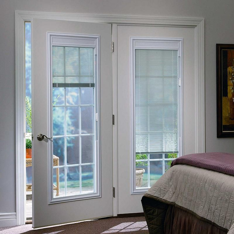 Patio French Doors With Blinds Odl Enclosed Built In Door Window Treatments For Entry