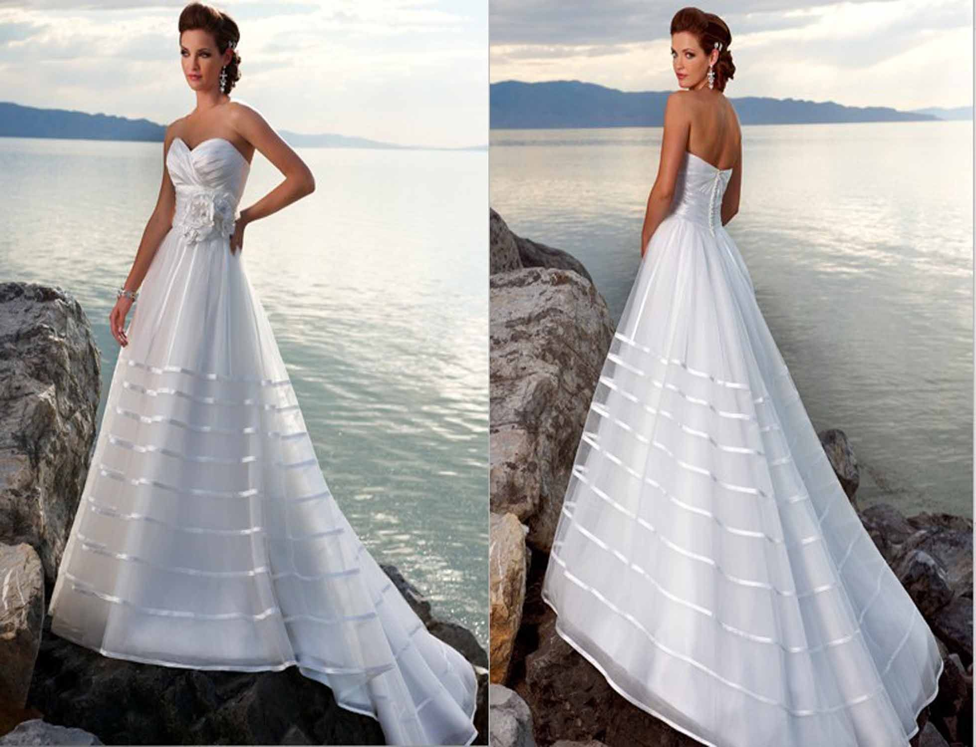 Light And Flowy Wedding Dresses For