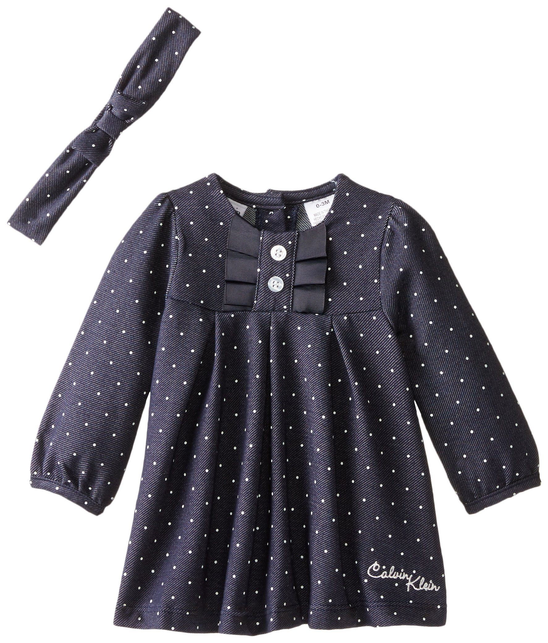 Amazon Calvin Klein Baby Girls Denim Dress with Headband
