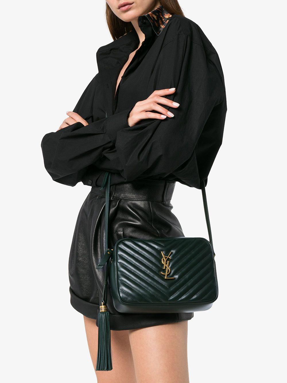0ba3194d24 Saint Laurent green lou quilted leather camera bag | Tasker tasker ...