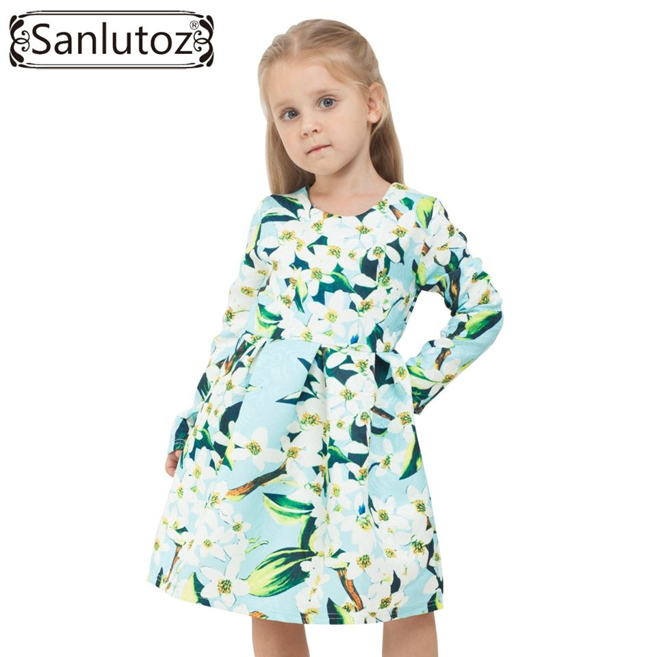 Flower girls dress winter girl children clothing brand clothes