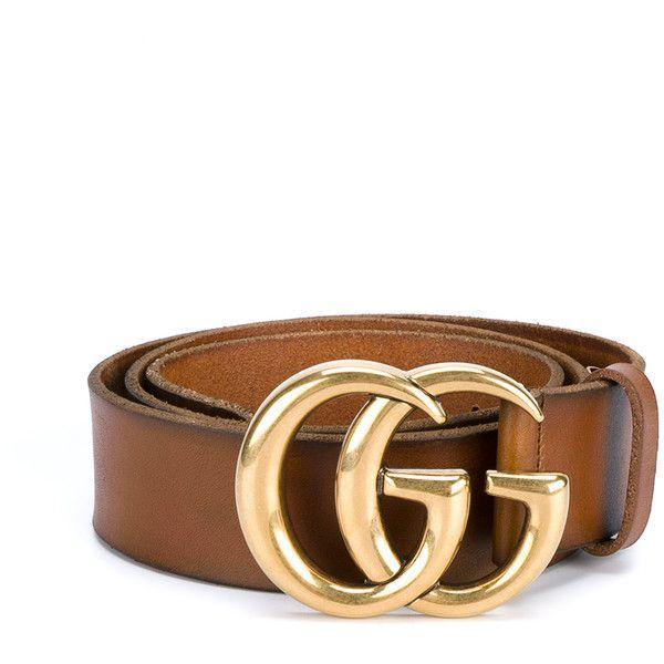 GUCCI Vintage Leather Logo Belt (€350) ❤ liked on Polyvore featuring accessories, belts, vintage leather belt, real leather belts, leather buckle belt, gucci belt and vintage belt
