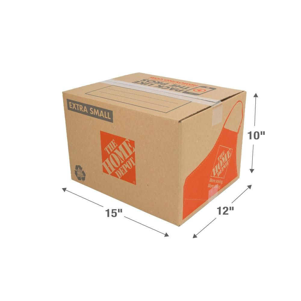 Multiple Size Boxes Cheap The Home Depot 15 In L X 12 In W X 10 In Extra Small Moving Box Xsmbox The Home De Moving Boxes Small Boxes The Home Depot
