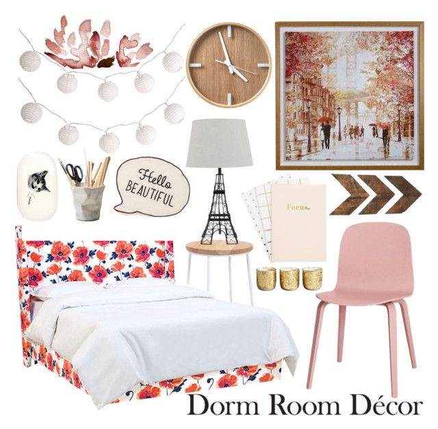 """Dorm Roon"" by jessica-hearts ❤ liked on Polyvore featuring interior, interiors, interior design, home, home decor, interior decorating, Dot & Bo, Pier 1 Imports, Illume and ESSEY"