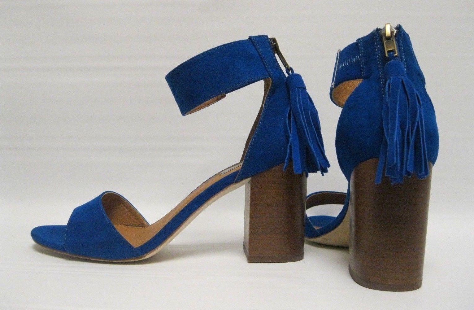 2794e0ccbc Steve Madden Briia Women's Sz 8 Blue Fabric 3.5