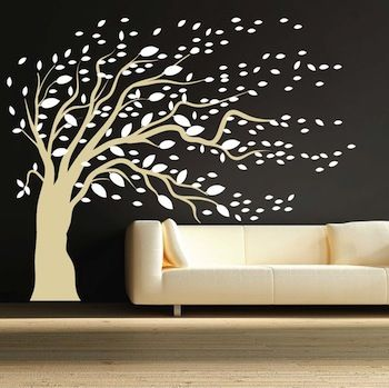 blowing tree wall art design - Wall Art Design