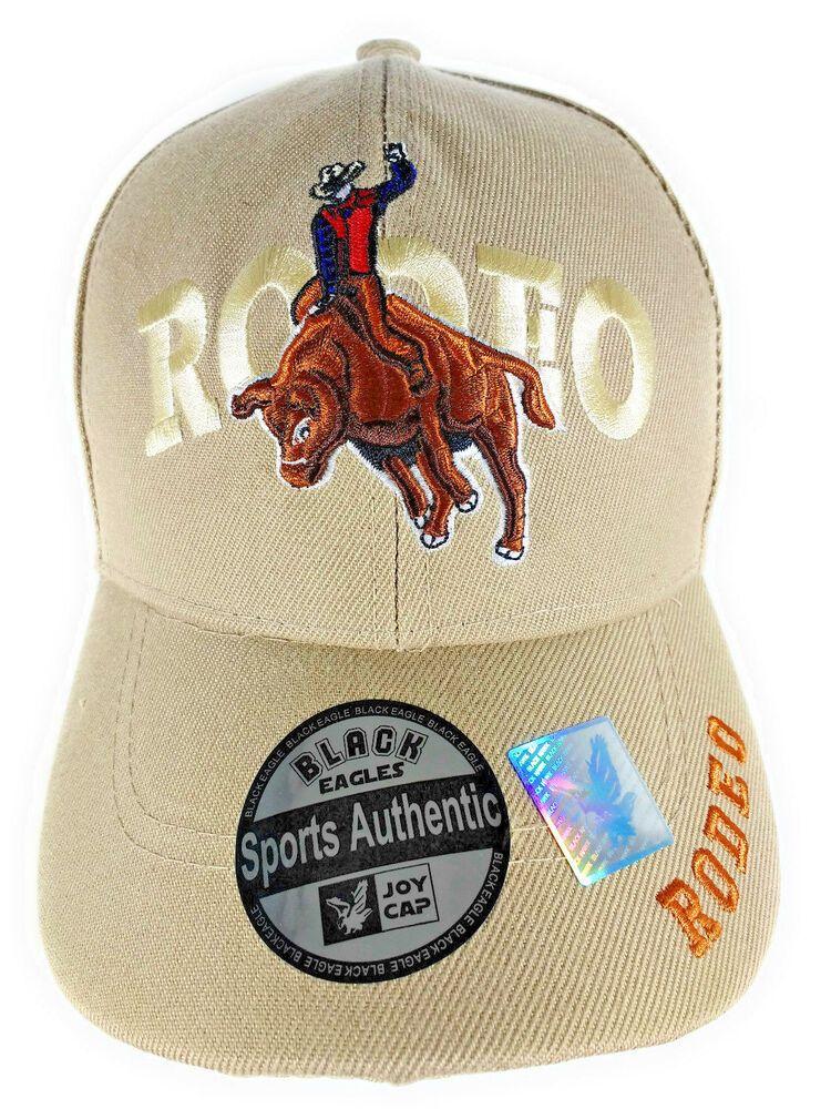 65348686 Black Eagles / JoyCap RODEO Baseball Style Hat Cap NWT Beige  #JoyCapBlackHawk #BaseballCap