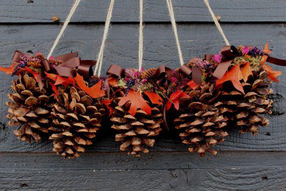 Pine Cone Pew Decoration Pinecone Wedding Pine Cone Chair Decor Wedding Chair Decor Wit Pine Cone Decorations Pinecone Crafts Christmas Christmas Pine Cones