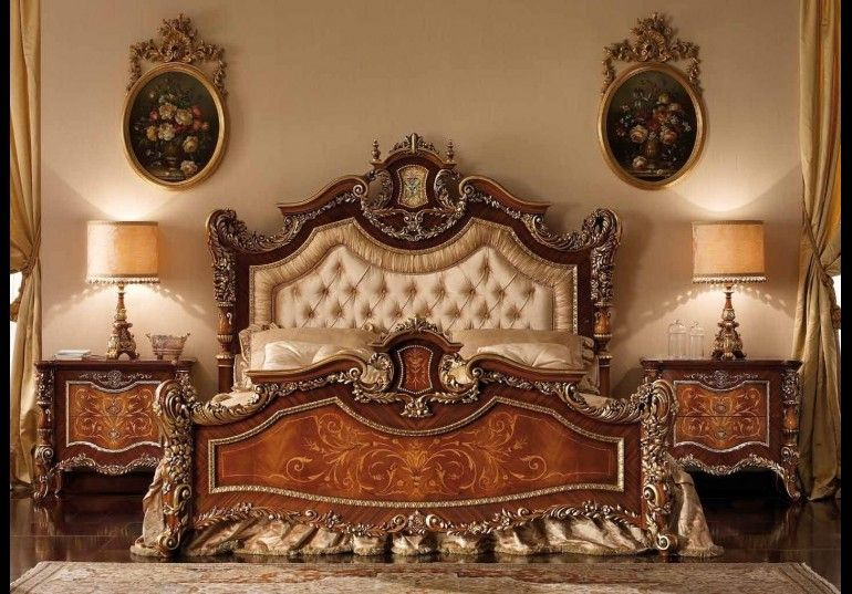 An exceptional master bedroom set with a tufted headboard, from our exclusive furniture masterpiece collection, handmade European furniture. Additional items and many options are available.