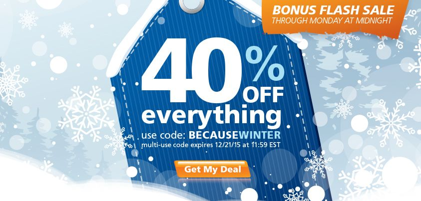Yaaaas, Get 40% Off Sitewide!  Because Winter is Here . . . Huge bonus flash sale for you: Get 40% off sitewide for 4 days only with code BECAUSEWINTER starting right now.