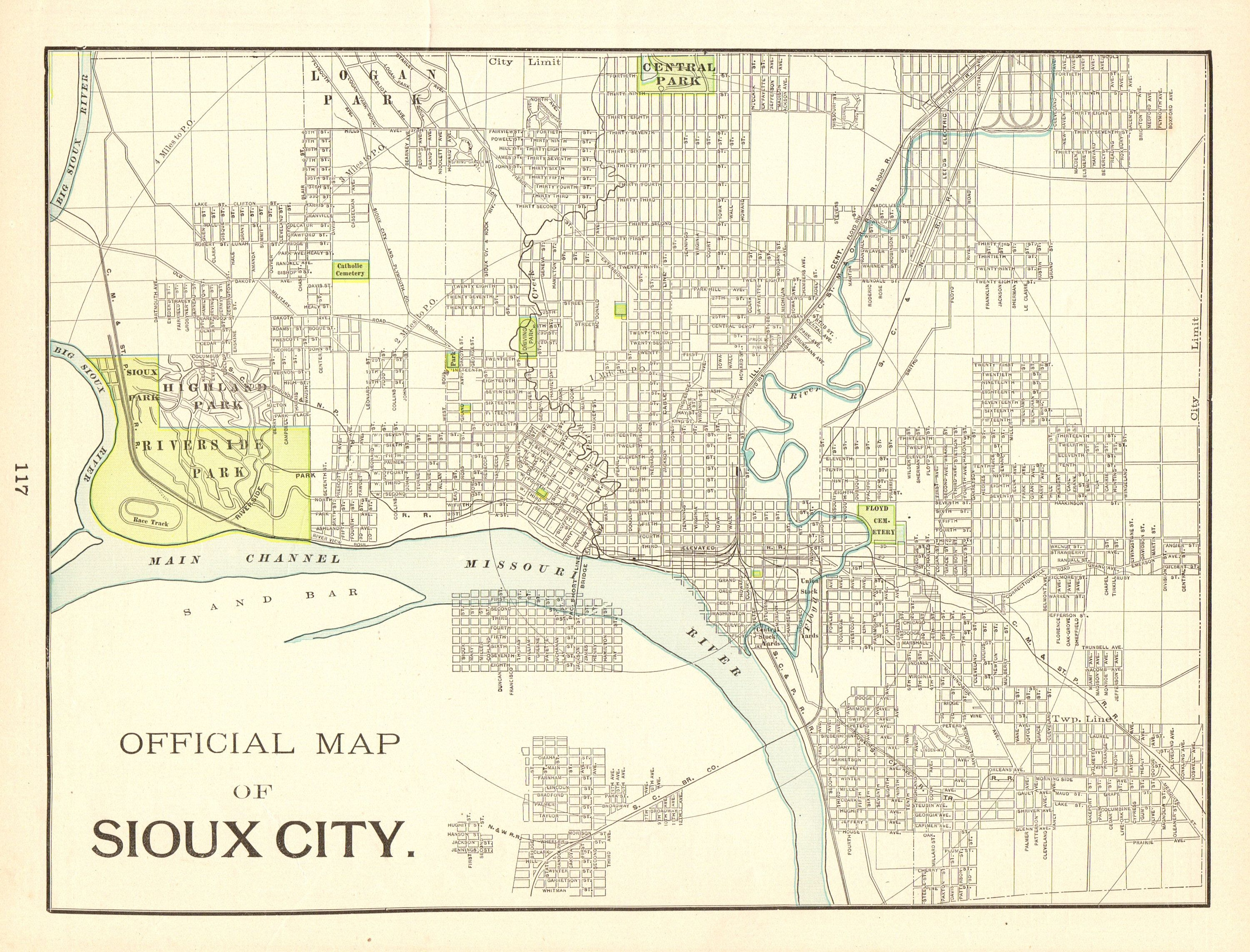 1898 Antique Sioux City Iowa Map Vintage Map Of Sioux City Gallery