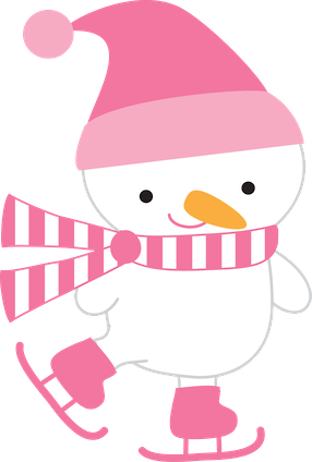 Image result for pink snowman clip art
