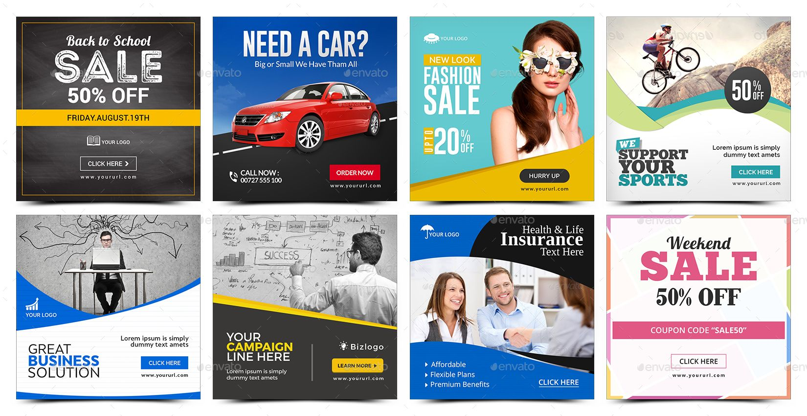 Instagram Template Banners 50 Designs Template