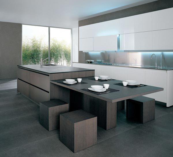cucina/soggiorno senza tavolo da pranzo - cucine | cucina ... - Tavolo Isola Cucina