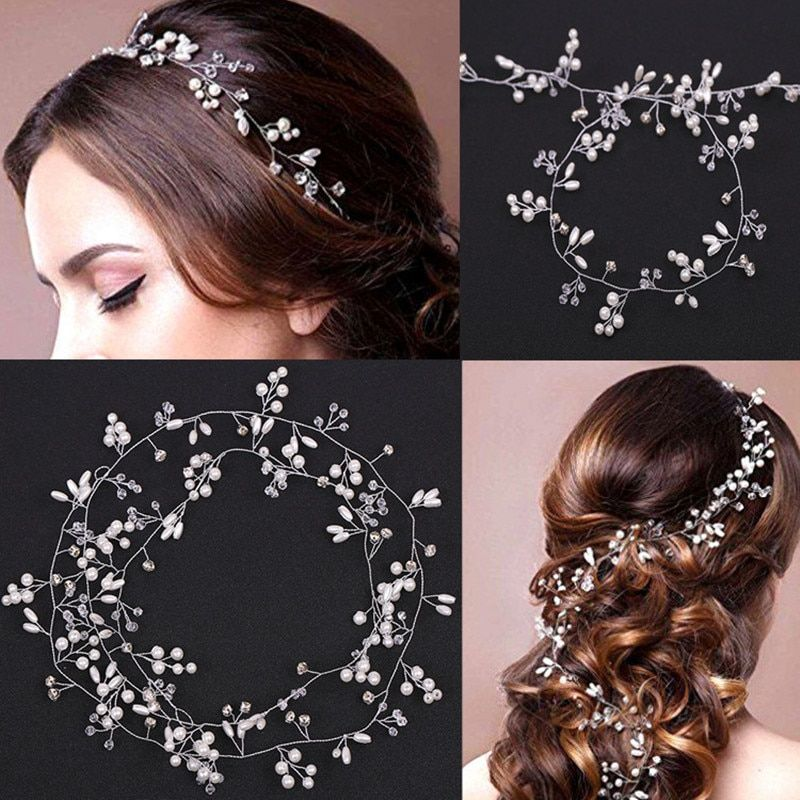 Cheap Hair Jewelry Buy Directly From China Suppliers Women Romantic Pearls Wedd In 2020 Crystal Bridal Hair Accessories Hair Accessories Crown Western Wedding Jewelry