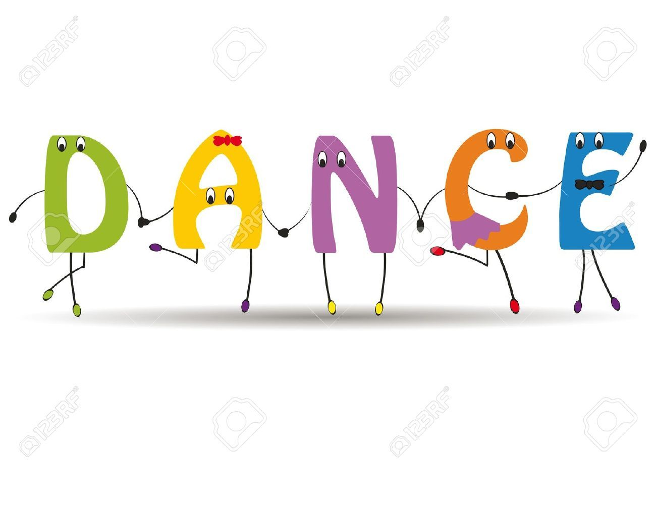 kids dance word dance colorful and funny letters dance kids dance word dance colorful and funny letters