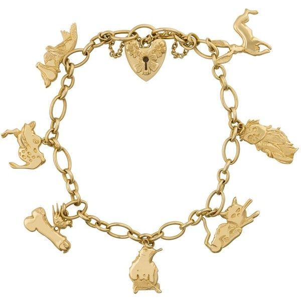 Animals Charm Bracelet With Heart Lock Clasp ❤ liked on Polyvore